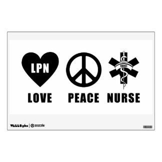 Nursing LPN Love Peace Nurse Room Decals