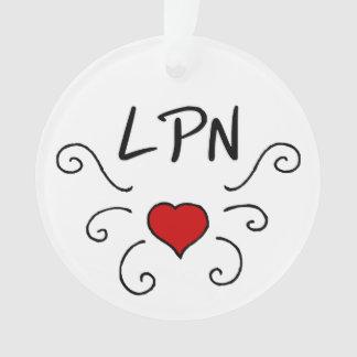 Nursing LPN Love Tattoo Ornament