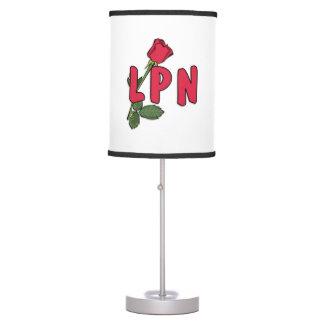 Nursing LPN Rose Table Lamp
