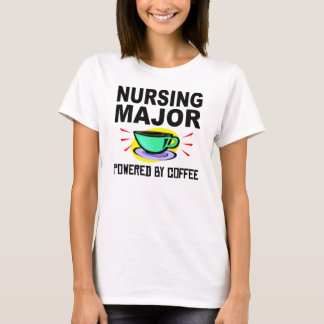 Nursing Major Powered By Coffee T-Shirt