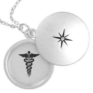 Nursing Medical Symbol Round Locket Necklace