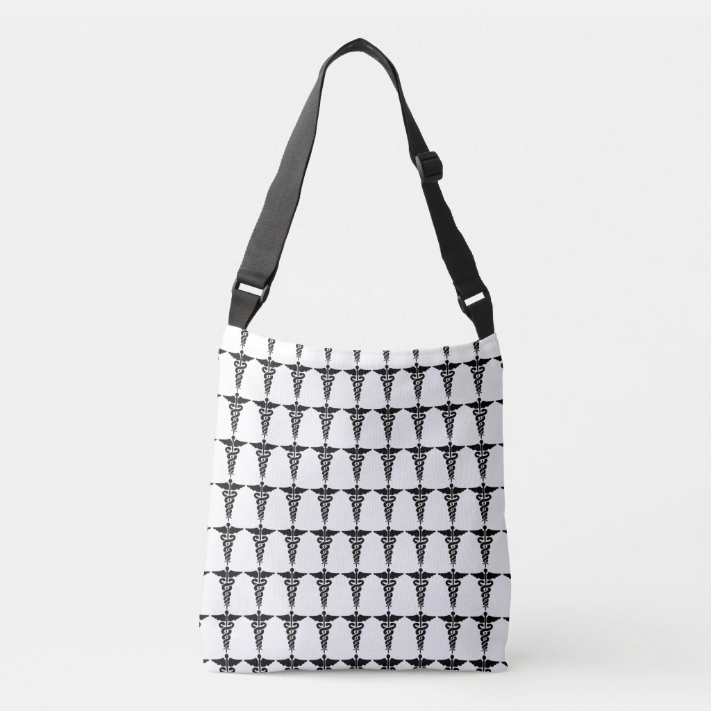Nursing Medical Symbols Crossbody Bag