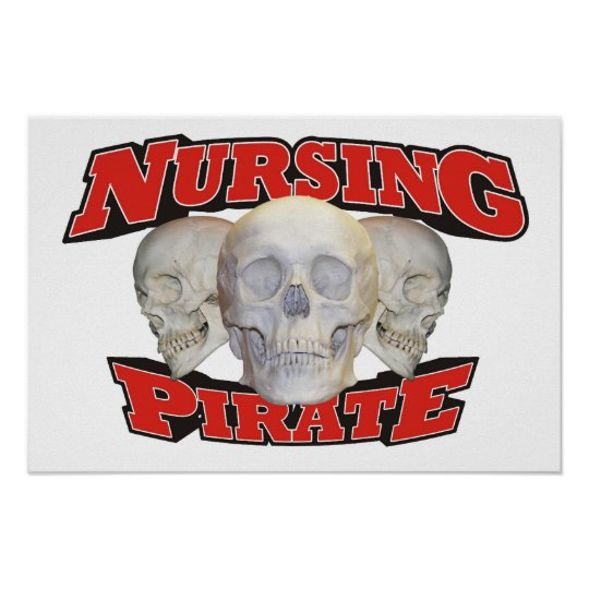 Nursing Pirate Poster