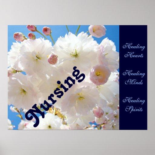 Nursing poster prints Healing Hearts Minds Spirits