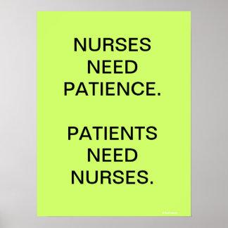 Nursing Poster Sign - Motivational Humorous
