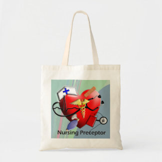 Nursing Preceptor Heart ARt Gifts Budget Tote Bag