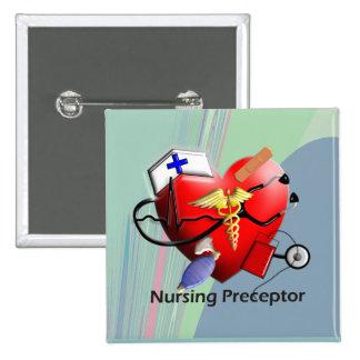 Nursing Preceptor Heart ARt Gifts Buttons