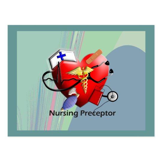 Nursing Preceptor Heart ARt Gifts Postcard