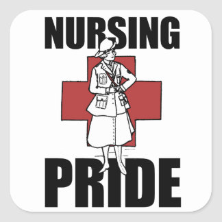 Nursing Pride Square Sticker