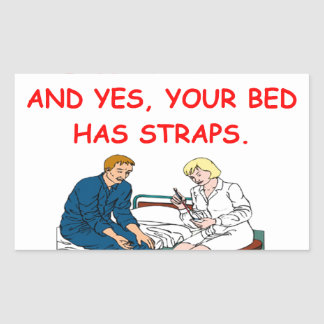 nursing rectangular sticker