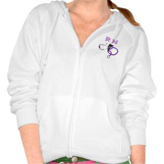 Nursing RN Stethoscope Hooded Sweatshirt