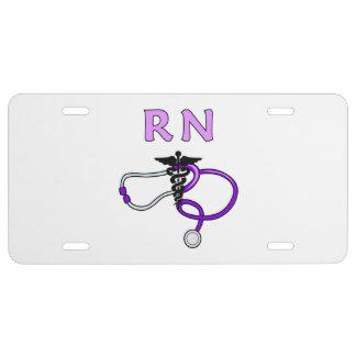 Nursing RN Stethoscope License Plate