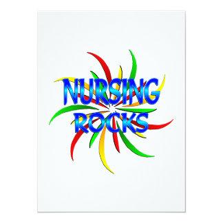 Nursing Rocks 5.5x7.5 Paper Invitation Card