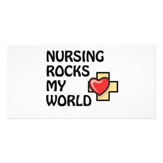NURSING ROCKS MY WORLD CARD