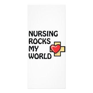 NURSING ROCKS MY WORLD RACK CARD