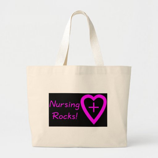 nursing rocks tote bag