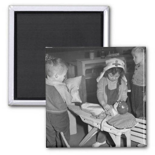 Nursing School: 1940s Refrigerator Magnet