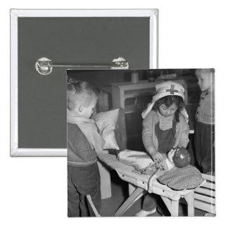 Nursing School: 1940s Pinback Button