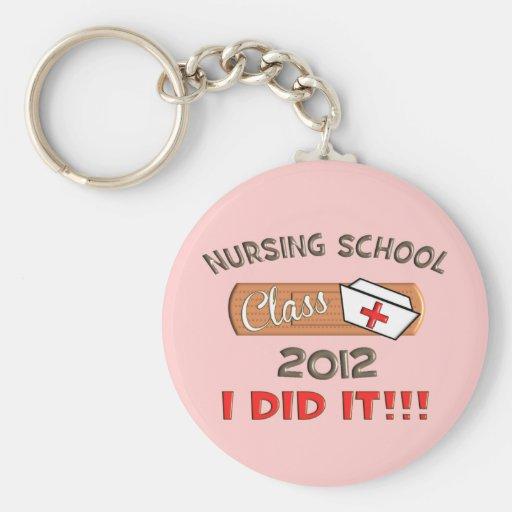 Nursing School 2012 Graduation Basic Round Button Keychain