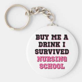 Nursing School Buy Me A Drink Basic Round Button Keychain