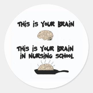Nursing School Classic Round Sticker