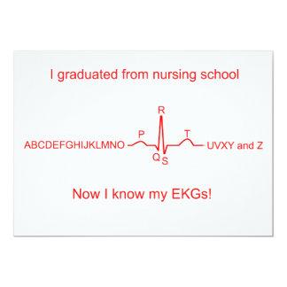 Nursing School EKG Graduation Card