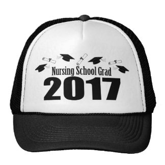 Nursing School Grad 2017 Caps And Diplomas (Black)