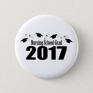 Nursing School Grad 2017 Caps And Diplomas (Black) Button