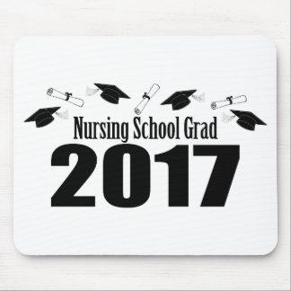 Nursing School Grad 2017 Caps And Diplomas (Black) Mouse Pad