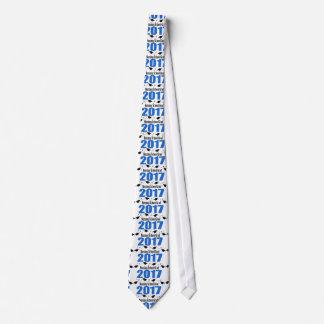 Nursing School Grad 2017 Caps And Diplomas (Blue) Neck Tie