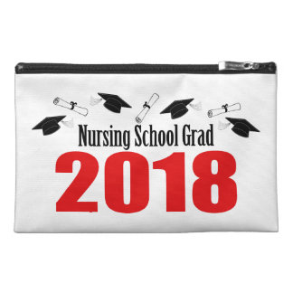 Nursing School Grad 2018 Caps And Diplomas (Red) Travel Accessory Bag