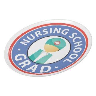 Nursing School Grad Party Plate