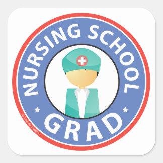 Nursing School Grad Square Stickers