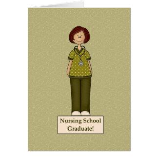 Nursing School Graduate Greeting Card