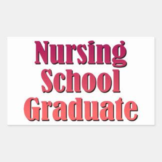 Nursing School Graduate Rectangular Sticker