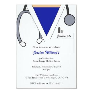 Nursing School Graduation 5x7 Paper Invitation Card