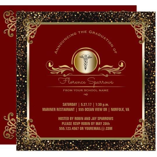Nursing School Graduation Party Pinning Ceremony Invitation