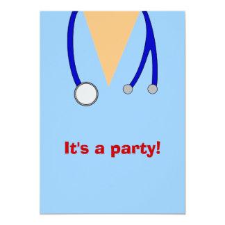 Nursing School Graduation Party Scrubs Invites