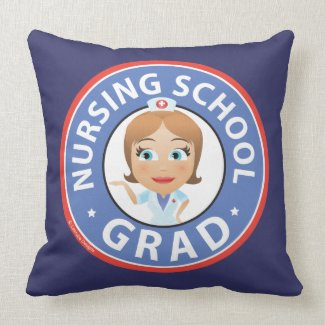 Nursing School Graduation Throw Pillow