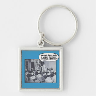 Nursing School Instructor - Doohicky Silver-Colored Square Keychain