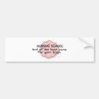 Nursing School - Like Brain Boot Camp Bumper Sticker