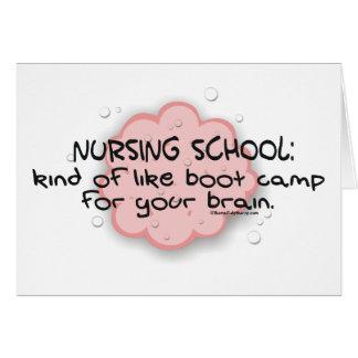 Nursing School - Like Brain Boot Camp Card
