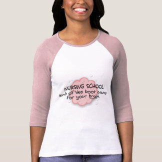 Nursing School - Like Brain Boot Camp T-Shirt