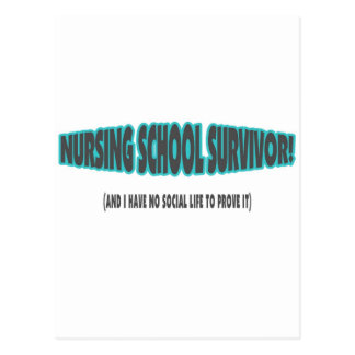 Nursing School Survivor (And I have No Social Life Postcards
