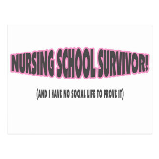 Nursing School Survivor (And I have No Social Life Post Cards