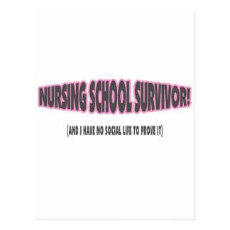 Nursing School Survivor (And I have No Social Life Post Card
