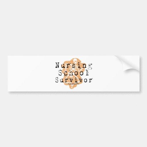 Nursing School Survivor Bumper Sticker