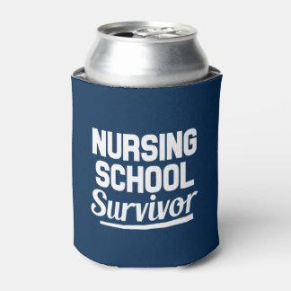 Nursing School Survivor funny can cooler