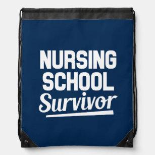 9d111bb6370 Nursing school survivor funny saying backpack