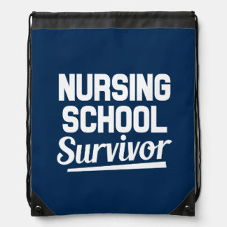 Nursing school survivor funny saying backpack